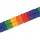Бумажная гирлянда  - Листья , радуга