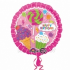 Sweet Shop Birthday  folijas balons  izmērs 43cm