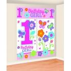 Первый  день рождения девочки - комплект настенныхя декораций