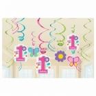Первый  день рождения девочки -  подвесная декорация