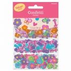 Первый  день рождения девочки -  бумажные конфетти для украшения стола