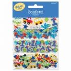 Первый  день рождения мальчика -  бумажные конфетти для украшения стола
