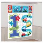 Первый  день рождения мальчика - комплект настенных декораций