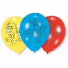 Lateksa baloni Ķepu patruļa 6 gab 23 cm