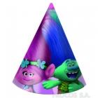 Карнавальные шапочки Тролли 6 шт