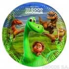 Тарелки бумажные Хороший динозавр 8 шт  23 см