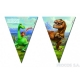 Баннер из девяти треугольных  флажков Хороший динозавр
