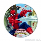 Тарелки бумажные  Человек паук 8 шт  23 см