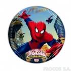Тарелки бумажные  Человек паук 8 шт  20 см