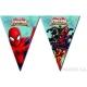 Баннер из девяти треугольных  флажков  Человек паук