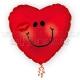 """Smaidiņš - sirds formas folija balons , izmērs 18""""/45cm,  SKU214816"""