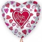 I LOVE YOU Воздушный  шар  из фольги 80см