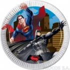 Тарелки бумажные   Бэтман против Супермена 8 шт  20 см