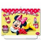 Декоративная свечка  Happy Birthday  Мышка Минни