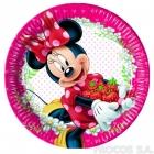 Тарелки бумажные  Мышка Минни   8 шт  20 см