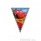 Баннер из девяти треугольных  флажков Тачки Формула 1