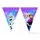 Баннер из девяти треугольных  флажков Ледяное сердце