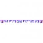 Burtu virtene no papīra dzimšanas dienas ballīteiLiedus sirds