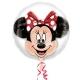 """Balons balonā """"Pelīte Minnija"""",  pvc caurspīdigs hēlija balons, izmērs 60 cm"""