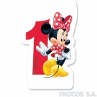 Свечка для торта 1-й день рождения  Мышка Минни