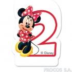 Свечка для торта 2-й день рождения  Мышка Минни