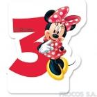 Свечка для торта 3-й день рождения  Мышка Минни
