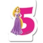 Свечка для торта 5-й день  рождения  Принцесса
