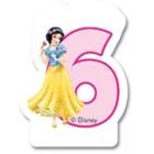 Свечка для торта 6-й день  рождения  Принцесса