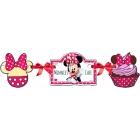 Baneris no papīra dzimšanas dienas ballītei Minnija pele