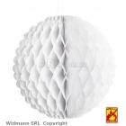 Белый, огнестойкий, шар из гофрированной бумаги, 32 см