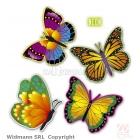 Неоновые бабочки, 32 см 4 шт