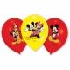 Mikipele  lateksa baloni ar krāsu apdruku 6.gab. 27.5 cm