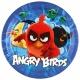 """Šķīvji Dusmiigie putni (""""Angry birds"""") , 23cm, iepakojumā 8 gab."""