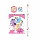 """Моя маленькая пони (""""My little pony"""")  подарочный набор на 5 персон из 20 предметов"""