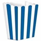Бумажные коробочки для поп-корна, цвет - голубой 9.5 x 13.5 cm, упакока  5 шт.