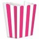 Бумажные коробочки для поп-корна, цвет - розовый  9.5 x 13.5 cm, упакока  5 шт.
