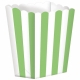 Бумажные коробочки для поп-корна, цвет - киви  9.5 x 13.5 cm, упакока  5 шт.