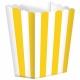 Бумажные коробочки для поп-корна, цвет - желтый  9.5 x 13.5 cm, упакока  5 шт.