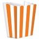Бумажные коробочки для поп-корна, цвет - оранжевый  9.5 x 13.5 cm, упакока  5 шт.