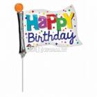 Мини фигура из фольги  Флажок День рождения