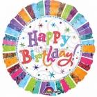 "32""/81 x 32""/81 cm folija balons, Happy Birthday,  Radiant, Jumbo"