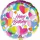 """18""""/45cm folija balons Spīdīgs sirds Tēma: Dzimšanas diena"""