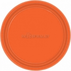 Oranžs papīra šķīvji  23 cm, 8 gab