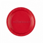 Sarkans abols šķīvji  bez zimejuma. 17.7 cm, 8 gab