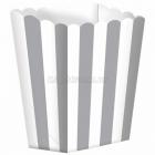 Бумажные коробочки для поп-корна, цвет - серебро  9.5 x 13.5 cm, упакока  5 шт.
