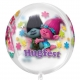 """Apaļš caurspīdīgs balons """"Trolli"""", Orbz ®, izmērs 43 cm,"""