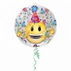 """Balons balonā """"Smaidiņš"""", pvc caurspīdigs hēlija balons, izmērs 60 cm"""