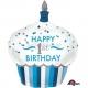 Первый день рождения мальчика  торт суперфигура  из фольги   73 x 91 см
