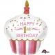 Pirmā dzimšanas diena meitenem  torte  folija superfigūra  73 x 91 cm