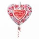 Сердце с цветами  двойной шар  на День Валентина 66 x 66 см